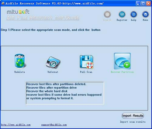 How to recover partition table